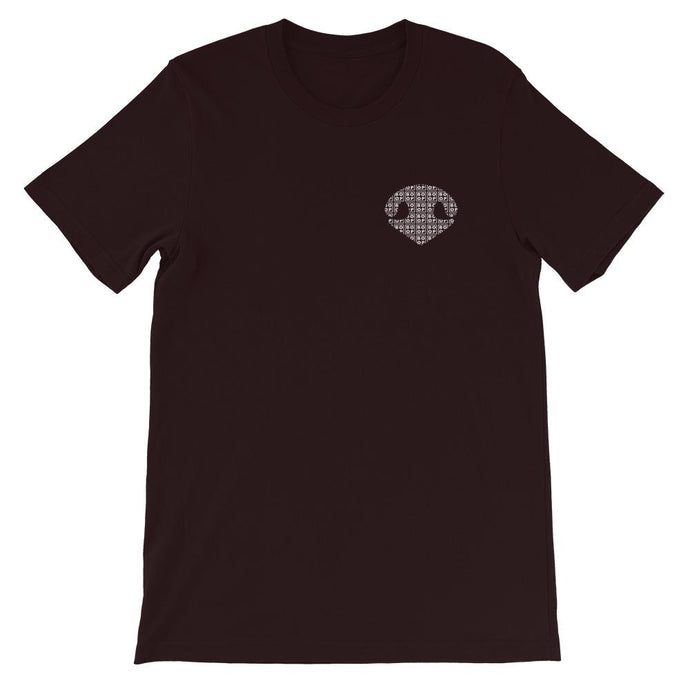 Simply BOOP Small Chest Logo Snoot Squares Oxblood Black T-Shirt