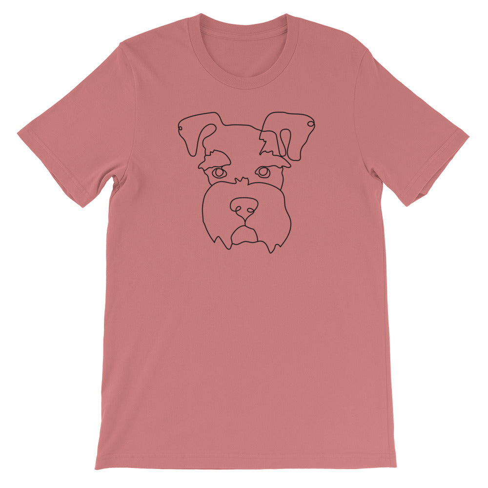 Schnauzer Continuous Line Boop Short Sleeve T-Shirt