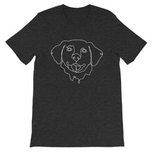 Load image into Gallery viewer, Golden Retriever Continuous Line Boop Short Sleeve T-Shirt