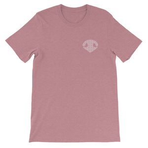 Simply BOOP Small Chest Logo Snoot Squares Mauve T-Shirt