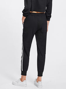 bee human Stripe Tape Side Sweatpants