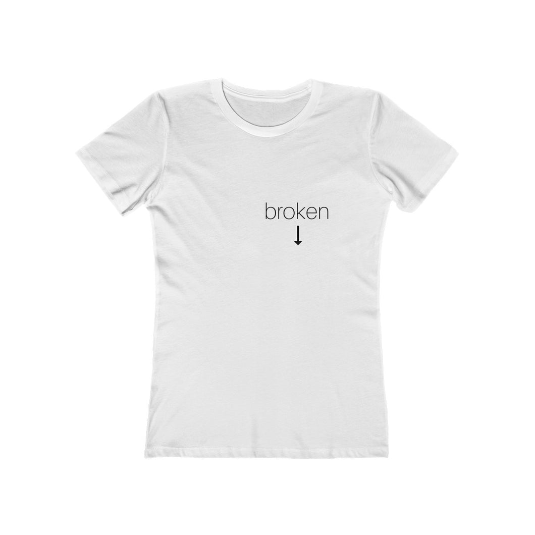 broken heart - Women's The Boyfriend Tee