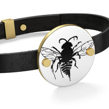 Load image into Gallery viewer, Bee Leather Bracelet
