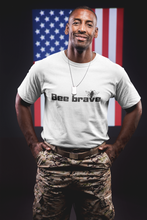Load image into Gallery viewer, bee brave be brave veteran shirt for man bee human