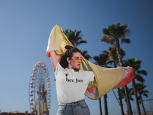 Load image into Gallery viewer, bee free - Women's The Boyfriend Tee