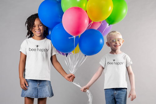 bee happy - Kids Softstyle Tee