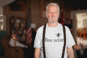 Bee Wise - Men's Cotton Crew Tee