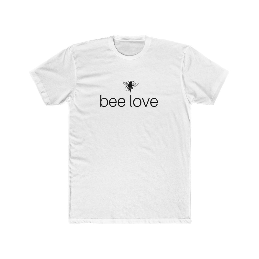 bee human: bee love - men's cotton crew t-shirt