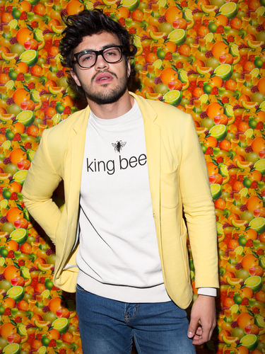 king bee - Men's Cotton Crew Tee