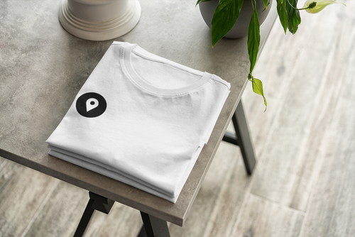 Location Check-In White Tee |  Digital Collection