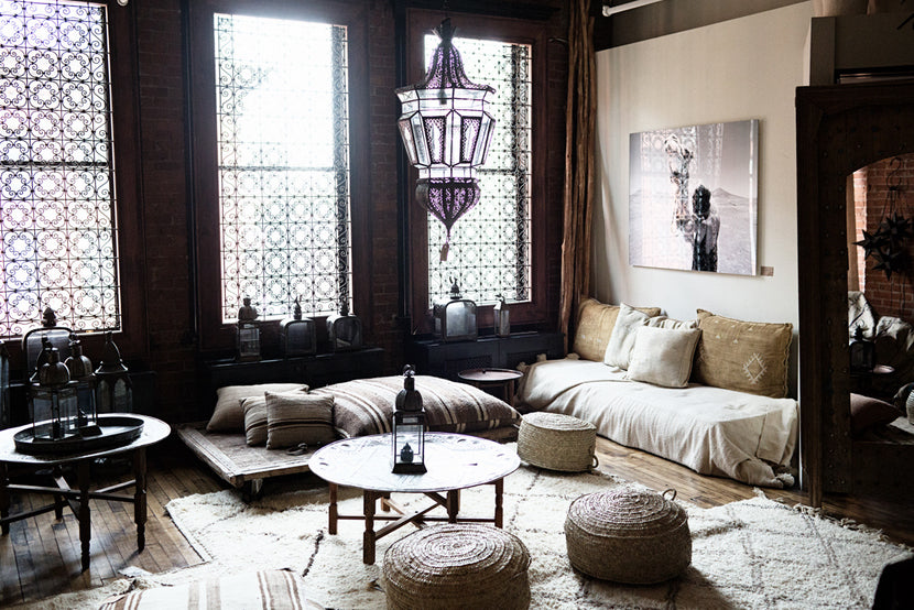 Moroccan rugs and mid-century design