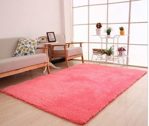 Wool rug for a Living Room Area Fluffy Soft - Ofrada