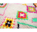 "Berber carpet from Morocco - 225 x 132cm - 88"" x 52"" - 4.3 ft x 7.4 ft - Ofrada"