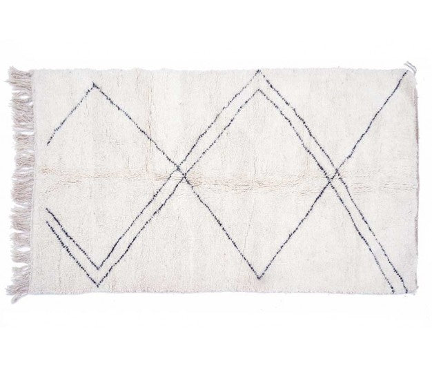 Berber carpet from Morocco -  255 x 145cm - 100