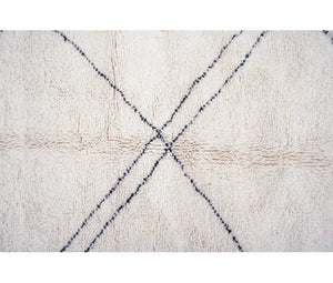 "Berber carpet from Morocco -  255 x 145cm - 100"" x 57"" - 4.7 ft x 8.4 ft - Ofrada"