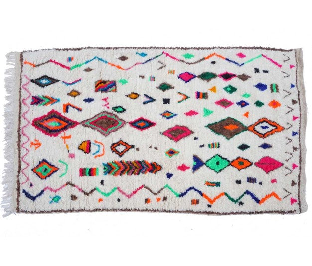 "Moroccan rug - 257 x 145 cm - 101"" x 57"" - 4.7 ft x 8.4 ft - Ofrada"