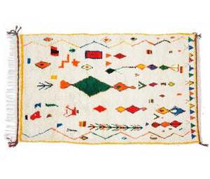 "Berber carpet from Morocco - 245 x 153cm - 96"" x 56"" - Ofrada"