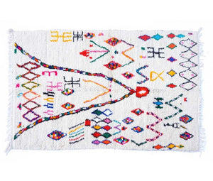 Azilal Moroccan rug - 253 x 142 cm - 4.6 ft x 8.3 ft - Ofrada