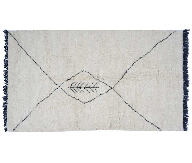 Moroccan rug -  254 x 144 cm - 4.7 ft x 8.3 ft - Ofrada