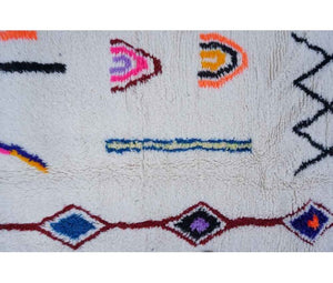 Moroccan rug - 195 x 140 cm - 4.6 ft x 6.4 ft - Ofrada