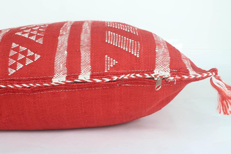 pillow decorative cushion cushion moroccan red cactus cushion silk Boho Sabra - Ofrada