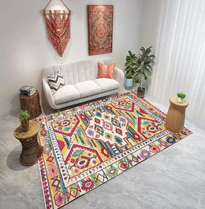 Moroccan Living Room Carpet Vintage Bedroom Rug - Ofrada