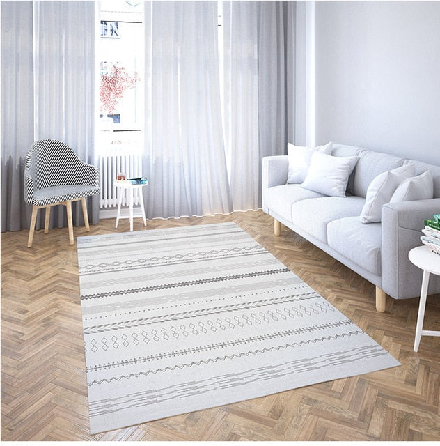 Black White Carpets Rugs For Home Living Room - Ofrada