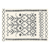 Black White beni ourain Carpets Rugs For cheap price - Ofrada