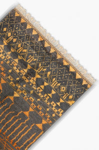 Berber rug in black copper wool - Ofrada
