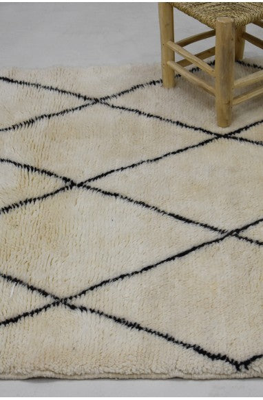 Mrirt white and black rug tight diamonds - Ofrada
