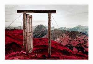 Iran, shot on Kodak Aerochrome film, 2008 - Photographic print, stamped and signed by Jan Grarup. Printet on Baryta Fine Art 325 gram paper in A2 (59,4 x 42cm)