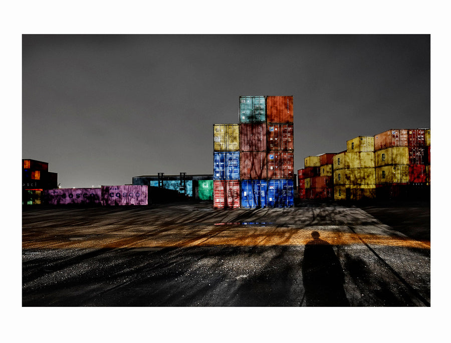 Containers in Nordhavn, Copenhagen, 2015 - Photographic print, stamped and signed by Jan Grarup. Printet on Baryta Fine Art 325 gram paper in A2 (59,4 x 42cm)