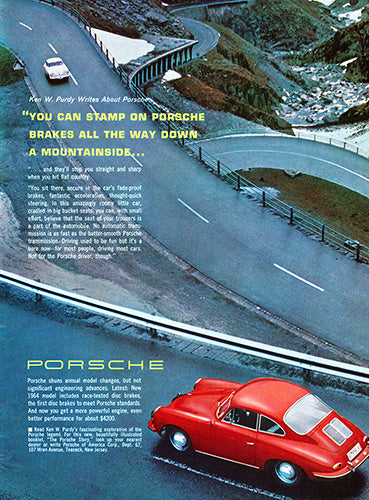 Fade-Proof Brakes, The 1964 Porsche 356. Facts & Specs.