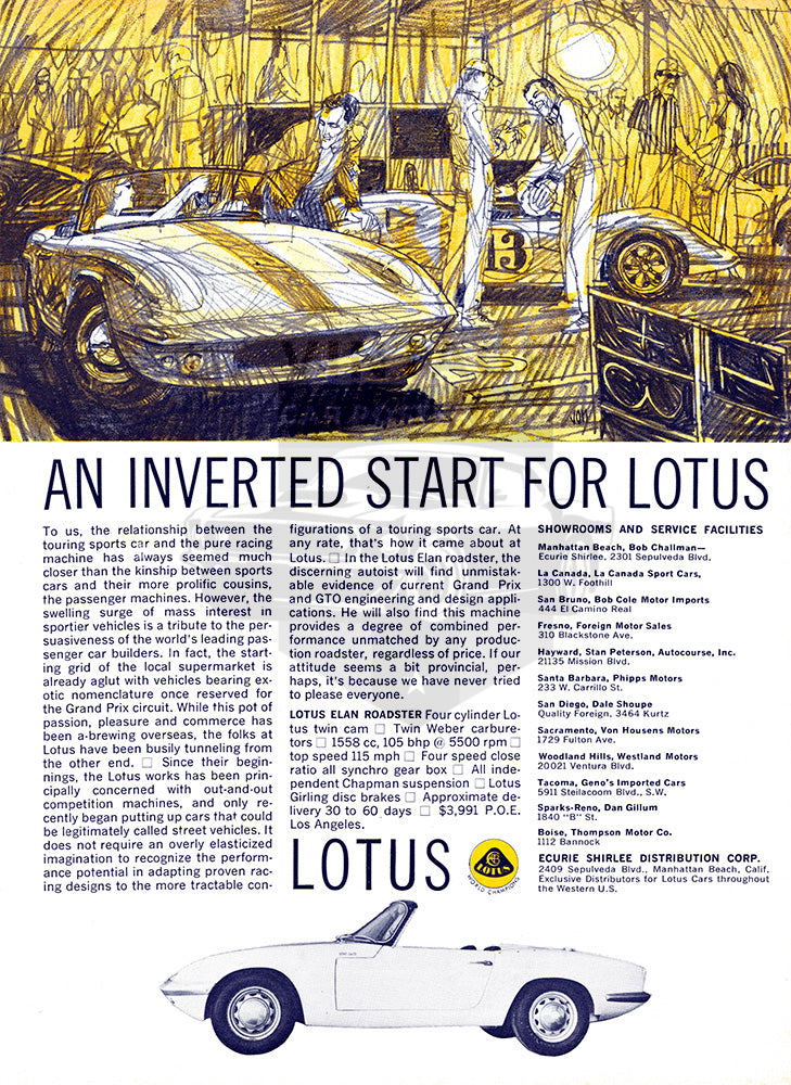 1964 Lotus Elan Roadster     #100487