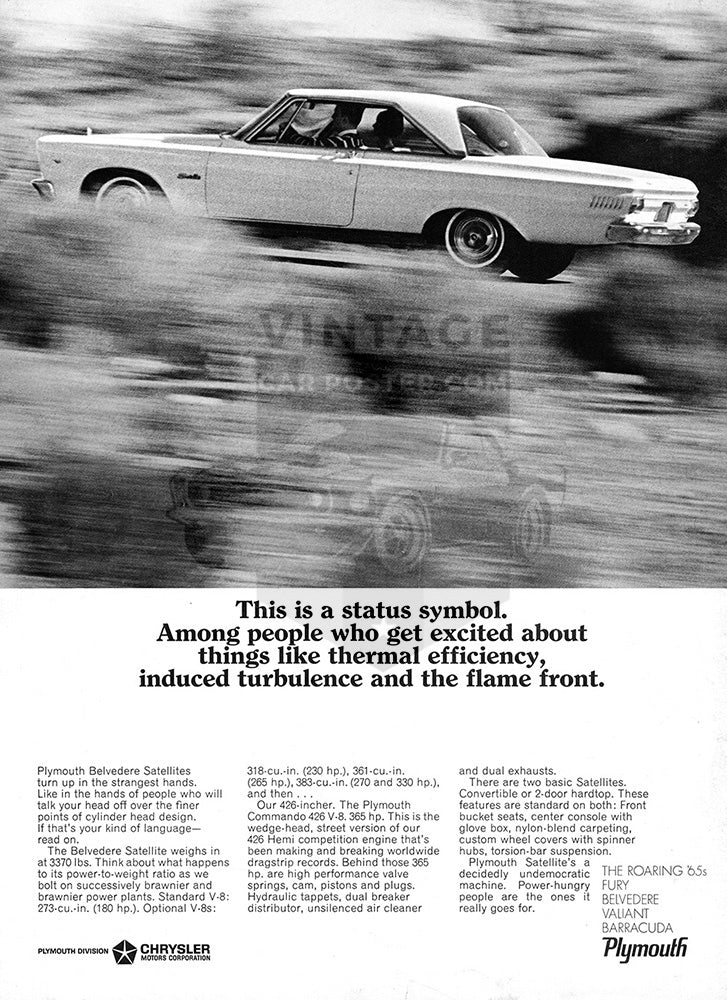 1965 Plymouth Chrysler Belvedere Satellite     #100684