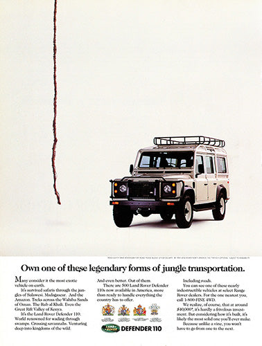 1992 Land Rover Defender 110     #103805