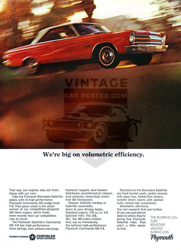 1965 Plymouth Chrysler Belvedere Satellite     #100685