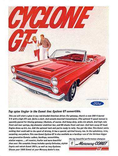 1966 Ford Mercury Comet Cyclone GT Convertible     #100754