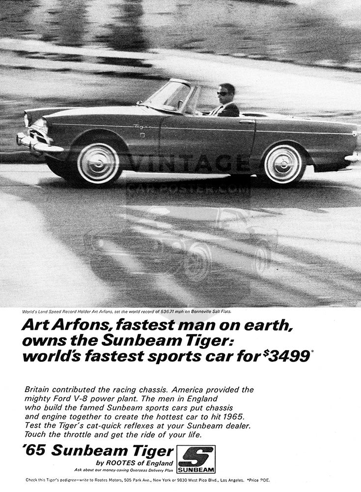 1965 Sunbeam Tiger V8     #100703