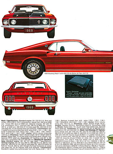 1969 Ford Mustang Mach 1 GT      #101246