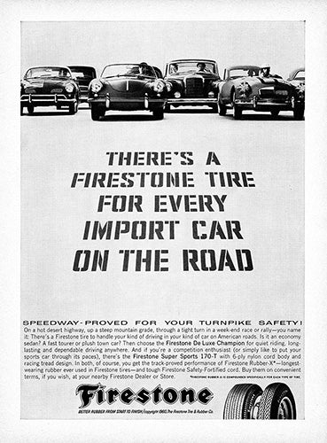 1960 Firestone Tires Porsche 356     #100138