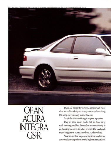 1992 Acura Integra GS-R      #103639