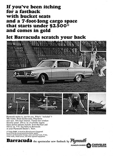 1964 Plymouth Chrysler Barracuda     #100520
