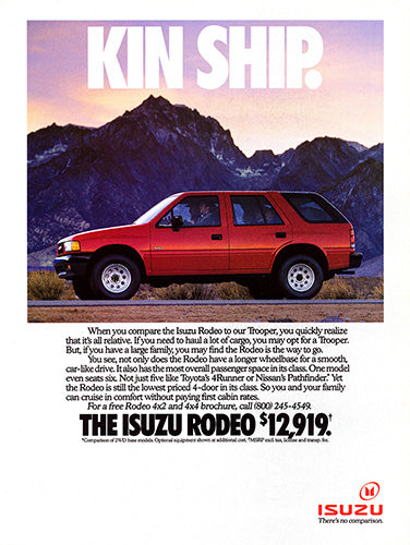 1992 Isuzu Rodeo     #103793