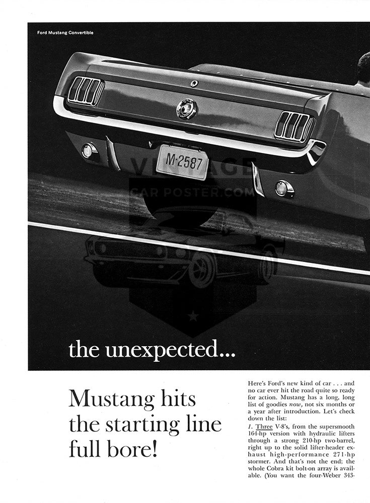 1964 Ford Mustang Convertible      #100469