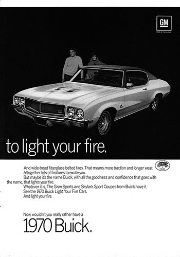 Buick Car Poster, 1970 Buick GS455 , Vintage Ad Wall Art