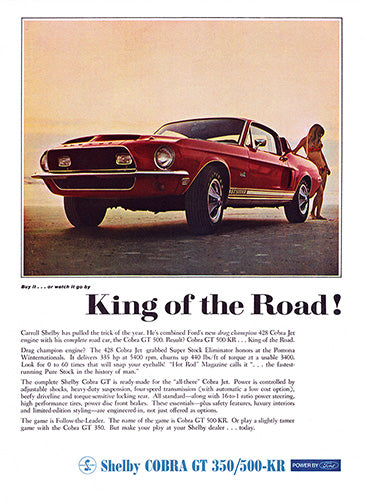 1968 Ford Mustang Shelby Cobra GT 350 500 KR     #101017
