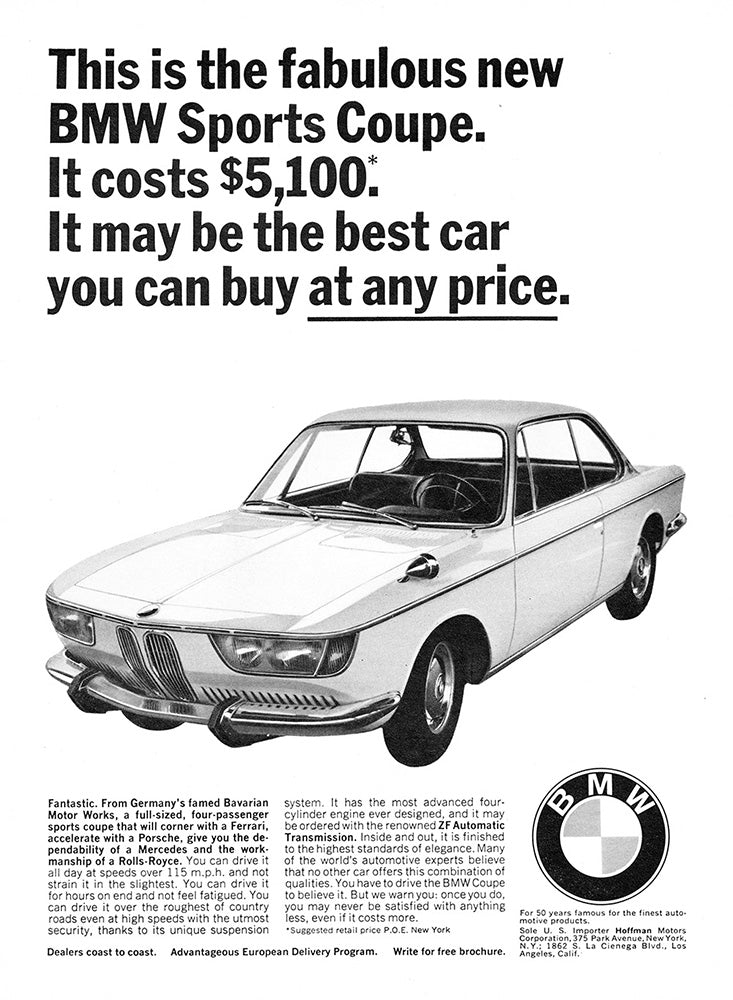 1966 BMW Sports Coupe     #100722