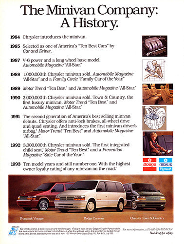 1993 Dodge Caravan Plymouth Voyager Chrysler Town & Country     #104125