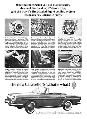 1963 Renault Caravelle S Convertible     #100382
